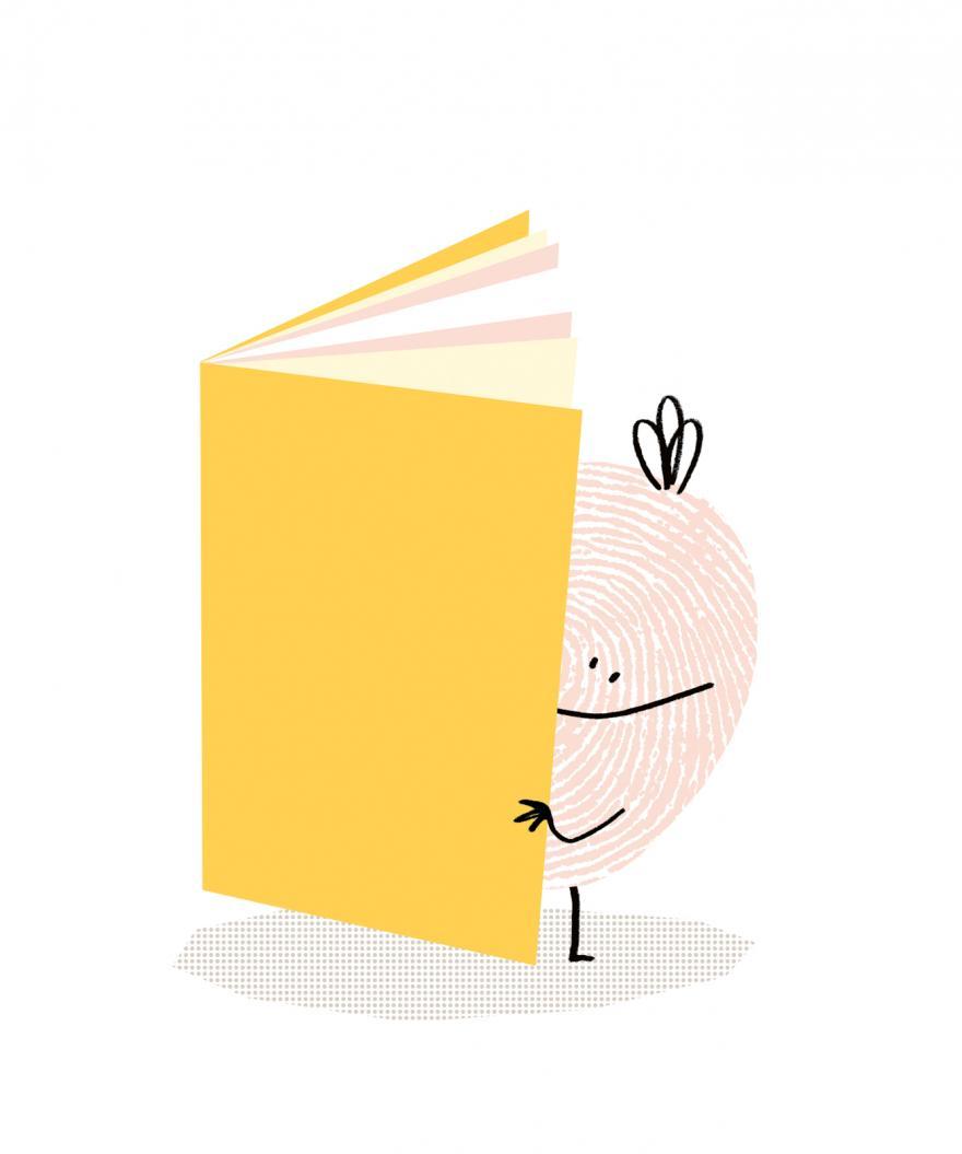 boekstart-mannetje met boek